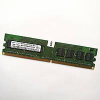 Оперативная память Samsung DDR2 1Gb 667MHz PC2 5300U 1R8 CL5 (M378T2863RZS-CE6) Б/У, фото 1
