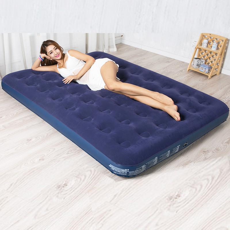 Надувной, двухспальный, двухместный, велюровый, матрас, ортопедический, прочный, надежный, 191х137х22см