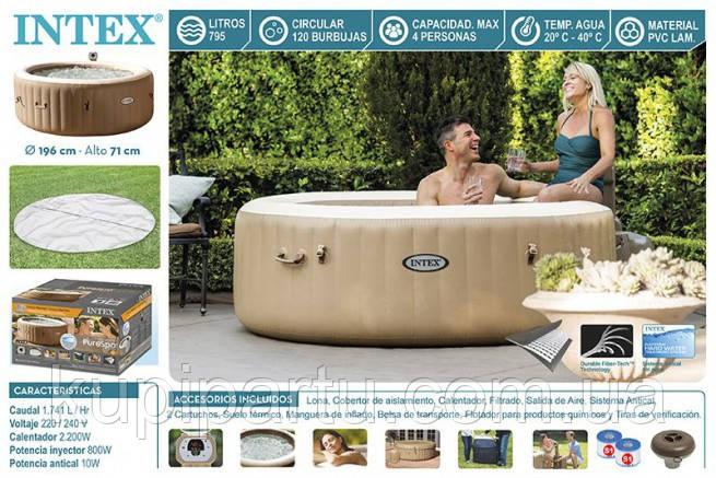 Надувная джакузи PureSpa Bubble Therapy+Hard Water System intex 28404(145/196Х71СМ)