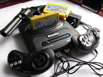 Dendy MEGA POVER, игровая приставка денди, с пистолетом, встроенными 195 играми, картриджем на 9999игр