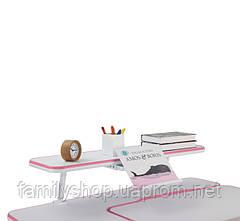 Парта растущая Amare Pink+ полка для книг SS16W Pink, фото 2