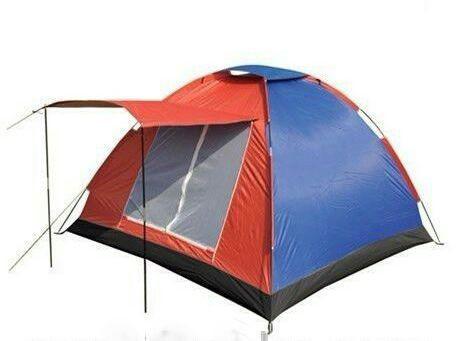 Палатка туристическая четырёх 4-х местная с козырьком рыбацкая