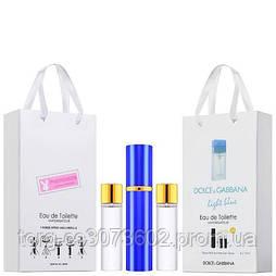 Мини-парфюм женский Dolce&Gabbana Light Blue Woman, 3х15 мл