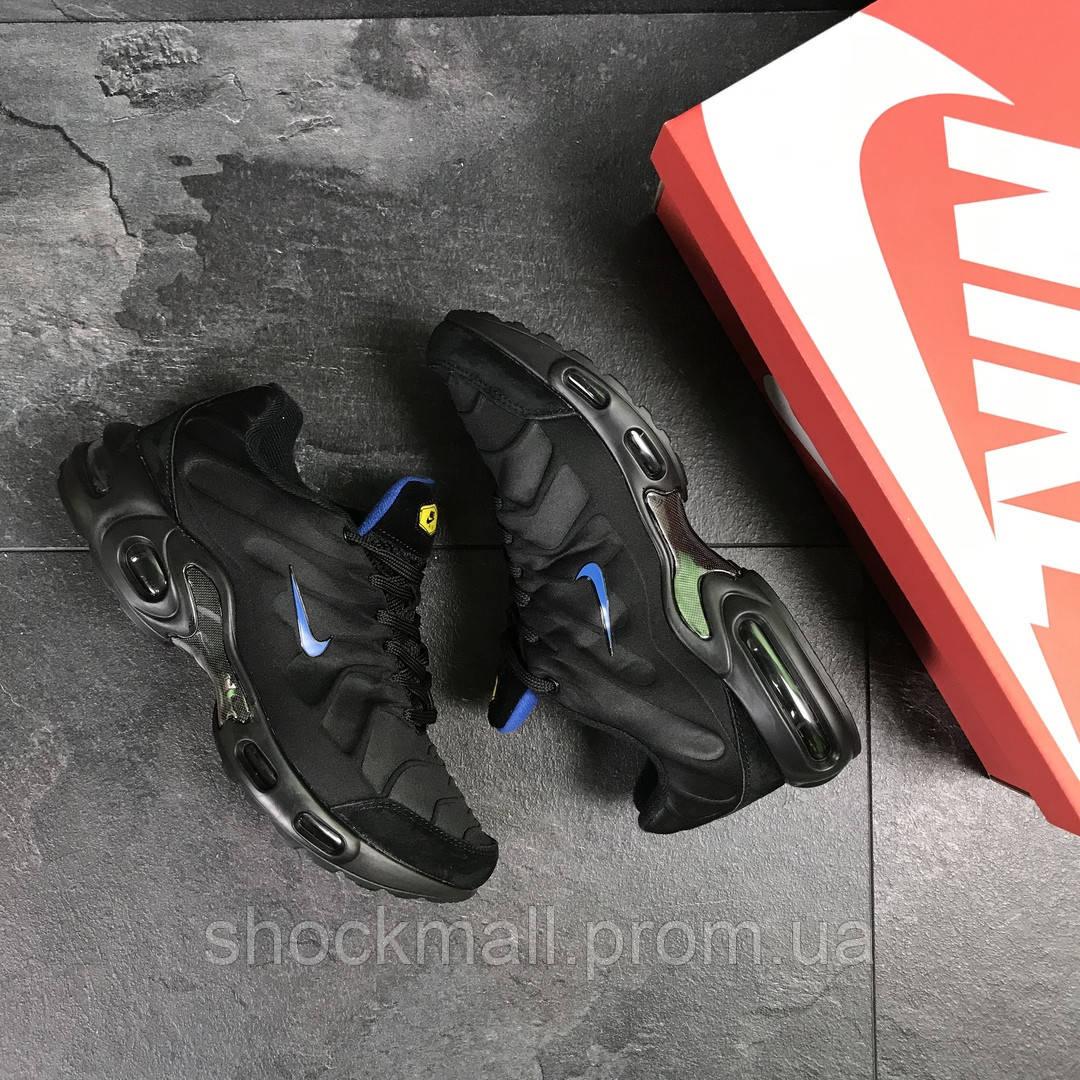 664a2300 ... Кроссовки мужские Nike Air Max TN черные текстиль Индонезия реплика, ...