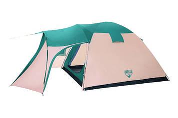 Палатка, пяти, 5, местная, двух, слойная, с, тамбуром, намет, туристическая, 505х305х200см
