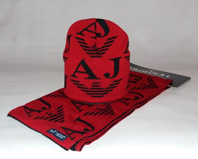 Наборы шапка+шарф мужские