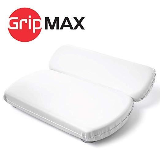 GripMAX Premium Spa Подушка для ванны с присосками, водонепроницаемая