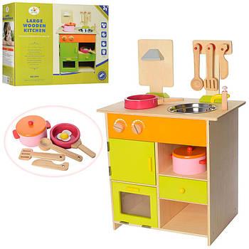 Дерев'яна іграшка Кухня MSN13025 (плита, мийка, посуд) Гарантія якості Швидкість доставки