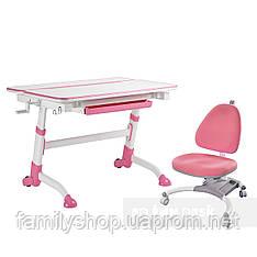 Комплект растущая парта Volare Pink + детское ортопедическое кресло SST4 Pink FunDesk