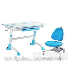 Комплект растущая парта Volare Blue + детское ортопедическое кресло SST4 Blue FunDesk