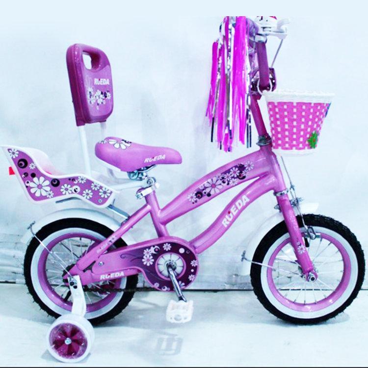 """Детский велосипед для девочки Flower-RUEDA 12"""" от 2 до 5 лет"""