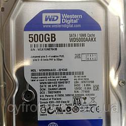Жесткий диск 500Gb Western Digital Sata III WD5000AAKX б/у Smart 100%