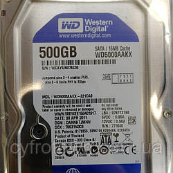 Жорсткий диск Western Digital 500Gb Sata III WD5000AAKX б/у Smart 100%