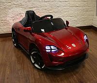 Детский электромобиль Porshe, кожа, EVA резина, дитячий електромобіль