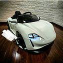 Дитячий електромобіль Porshe, шкіра, EVA гума, дитячий електромобіль, фото 9
