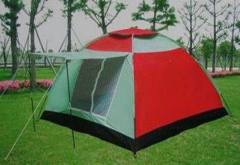 Палатка четырех 4 местная с козырьком 200х200х150см