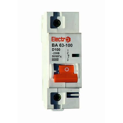Автоматический выключатель 1 полюс 100 А ВА63-100 6 кА D