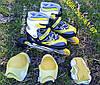 Ролики роликовые коньки раздвижные безшумные с 24 по 43 новые с защитой, фото 4