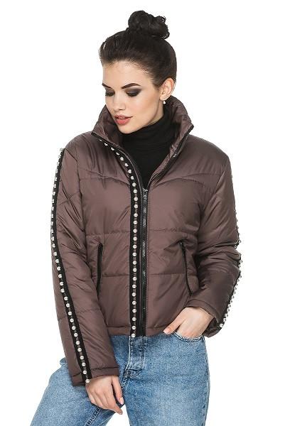 Модная женская куртка осень-весна Селена мокко (44-54)