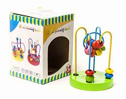 Деревянный пальчиковый лабиринт.Игрушка настольная игра для детей.