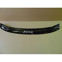 Дефлектор капота (мухобойка) Jeep Grand Cherokee (WJ) c 1999-2004 г.в. (Джип Гранд Чероки) Vip Tuning