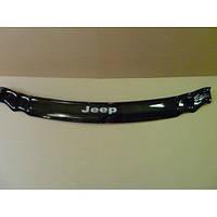 Дефлектор капота (мухобойка) Jeep Grand Cherokee (WK) с 2005–2010 г.в. (Джип Гранд Чероки) Vip Tuning