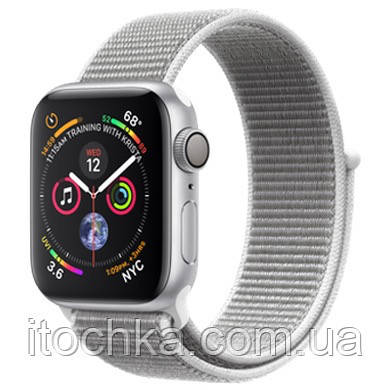 Apple Watch Series 4  40mm Silver Aluminum Case with Seashell Sport Loop (MU652)
