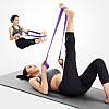 Эластичьная лента эспандер тренажор для пресса коррекции похудения тренировки  всех груп мышц универсальная , фото 4