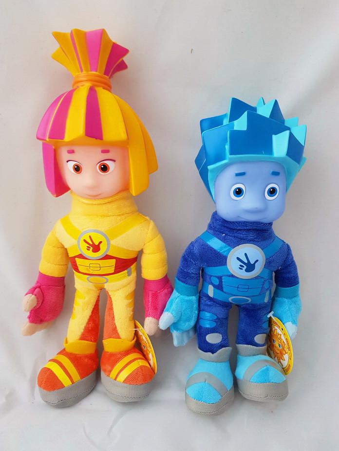 Набір Фиксики, м'яка інтерактивна іграшка, розмовляють фразами, з мультика висота 30см