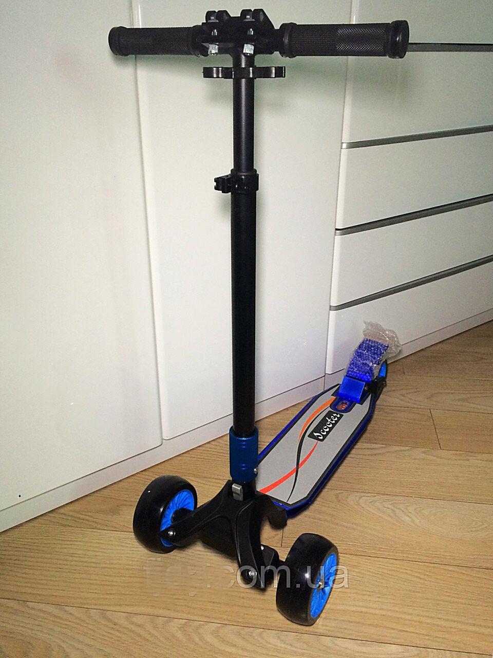 Самокат, детский, алюминиевый, прочный, scooter, rix, с, складным, выдвижным, рулём, широкими, колесами