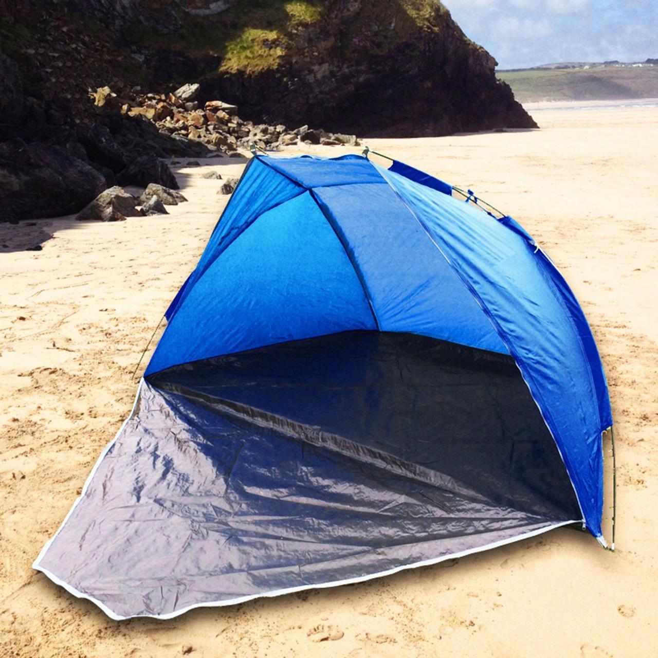 Пляжная палатка трансформер удобная универсальная спасет от палящего солнца и от дождя намет двух местная