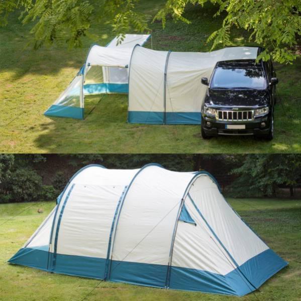 Шести местная трех комнатная большая палатка кемпинговая туристическая высокая просторная двух слойная