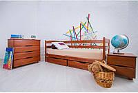 Кровать Ева с ящиками 90 х 200 см (орех светлый)
