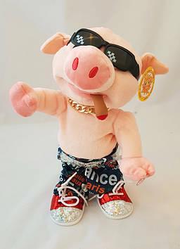 Інтерактивна іграшка, свиня, репер, музична, співає пісню, свинка, танцює під пісню, стильна, модна
