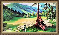Картина в багетной раме Карпаты 330х700 мм №387