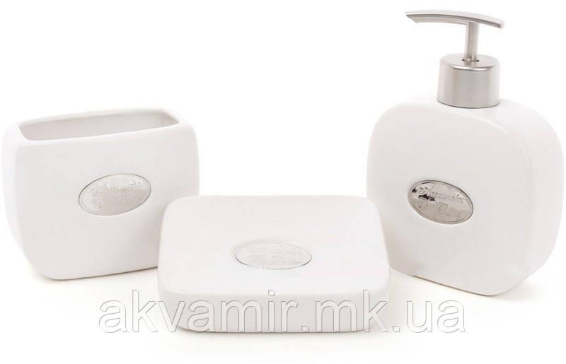 Набор аксессуаров для ванной комнаты De Bain (цвет - белый), 3 предмета