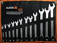 Набор ключей рожково-накидных Black ( Польша ) 12 предметов (16003)