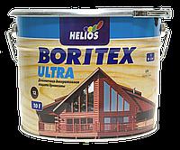 Лазурь для дерева с воском HELIOS BORITEX Ultra, сосна, 10л (полупрозрачная краска)