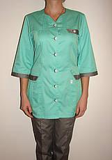 Медицинский костюм женский на пуговицах 3242 ( коттон 42-66 р-ры ), фото 2