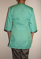 Медицинский костюм женский на пуговицах 3242 ( коттон 42-66 р-ры ), фото 3