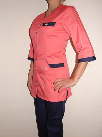 Медицинский костюм женский на пуговицах 3241 ( коттон 42-66 р-ры ), фото 2