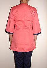 Медицинский костюм женский на пуговицах 3241 ( коттон 42-66 р-ры ), фото 3