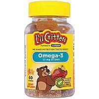 L'il Critters Omega-3 60 жевательных конфет. Витамины,омега-3 для детей.