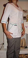 Женский медицинский костюм 22105-2 (батист 60-70 р-ры ), фото 2