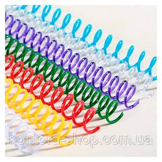 Спираль пластиковая А4 14,3 мм (3:1) белая, 100 штук
