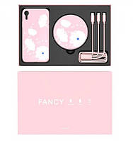 Подарочный комплект Nillkin Fancy (беспроводное зу + чехол Glass case для iPhone XR + кабель 3в1)