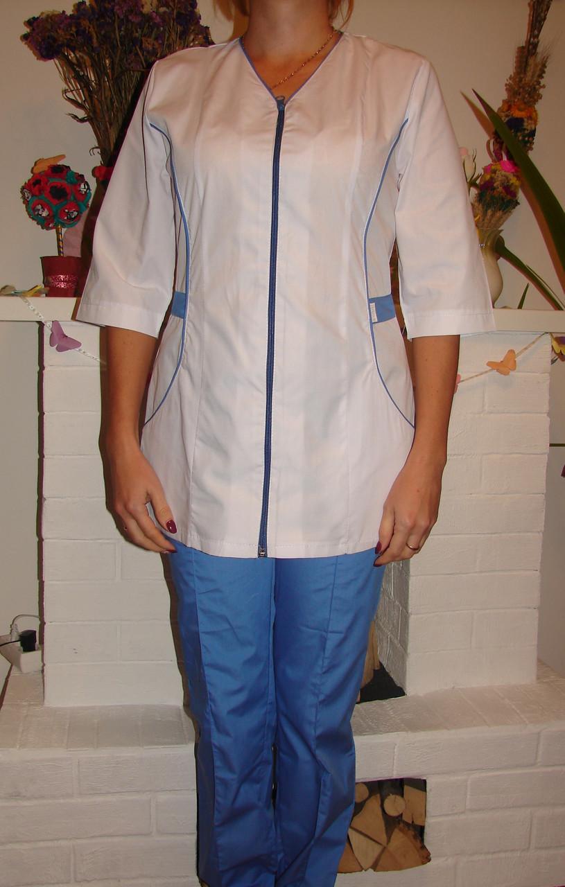 Медицинский костюм женский 22107 ( батист 42-60 р-ры )