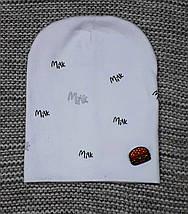 Комплект шапка + хомут весна-осень белого цвета  размер 44 46 48, фото 3