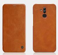 Кожаный чехол (книжка) Nillkin Qin Series для Huawei Mate 20 lite