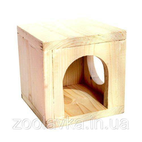 Дом подвесной для шиншилл, морских свинок (дерево) 16*16 см